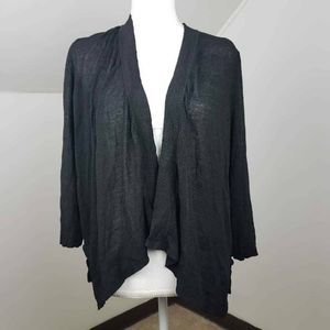 Chicos Women Cardigan Sweater Black Waterfall 3 XL